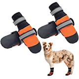 SCENEREAL Waterproof Dog Shoes - Non-Slip Dog Boots, Reflective & Adjustable Dog Booties with Rugged Sole,...