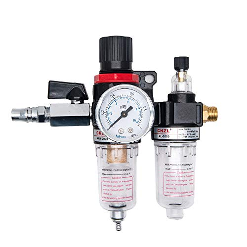 Kit regolatore filtro aria, MASO AFC2000 regolatore di pressione dell'aria 1/4' filtro separatore...
