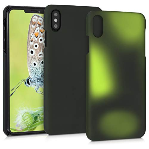 kwmobile Thermal Sensor Case Compatible with Apple iPhone Xs Max - Color Changing Heat Sensitive Hard Cover - Black/Green
