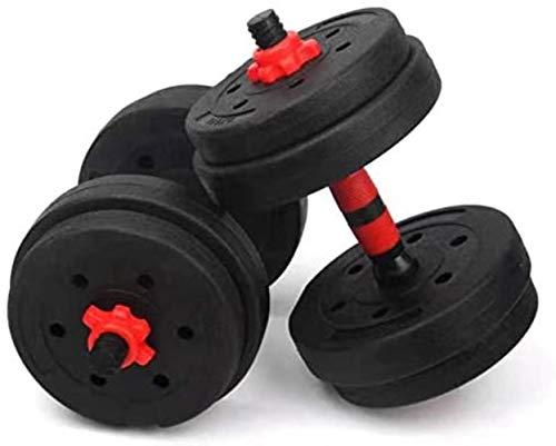 Einstellbare Fitness Hantel Set for männliche und weibliche Ausrüstung Home Training Arm Muscle Gym Gewichte 15KG 20KG 25KG, Postenanzeige Gewicht: 15,0 Kilogramm (Size : 10kg)