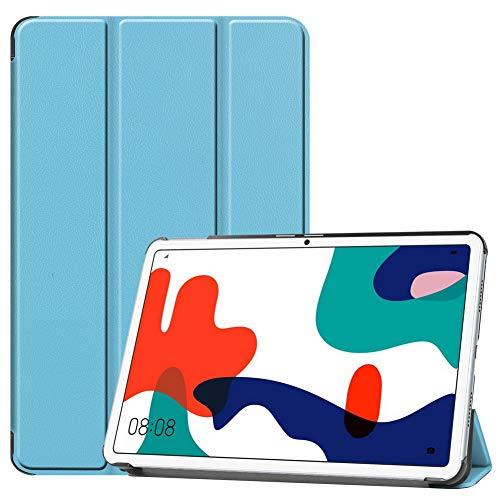 DWaybox Custodia in Pelle PU Flip per Huawei MatePad 10.4 Pollici con Custodia Protettiva Intelligente Auto Sleep/Wake Trifold con più Angoli di visualizzazione -Azzurro
