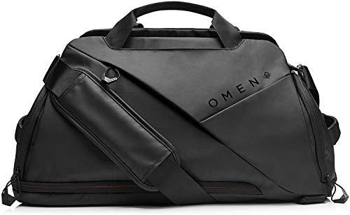 HP - Gaming Omen Transceptor Borsone Duffle Bag per Notebook fino a 17.3', tasca RFID, Presa USB Integrata, Nero