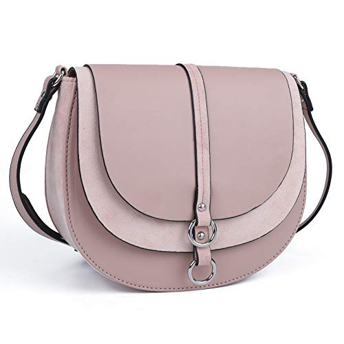 AFKOMST Bolso cruzado para mujer, bolso de mano de tamaño mediano, bolso de mano de satén, ligero y vintage, de piel suave, monederos y bolsos de mano, con correa ajustable para el hombro