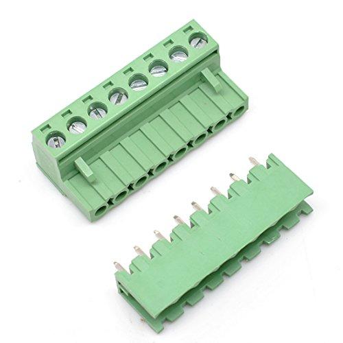10 Set 8Pin 5.08mm Pitch Stecker Buchse Schraube Klemmenblock