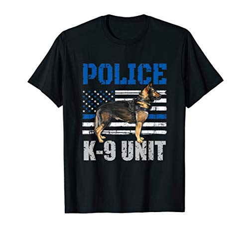 Police K-9 Unit Shirt Thin Blue Line Officer Dog Costume T-Shirt