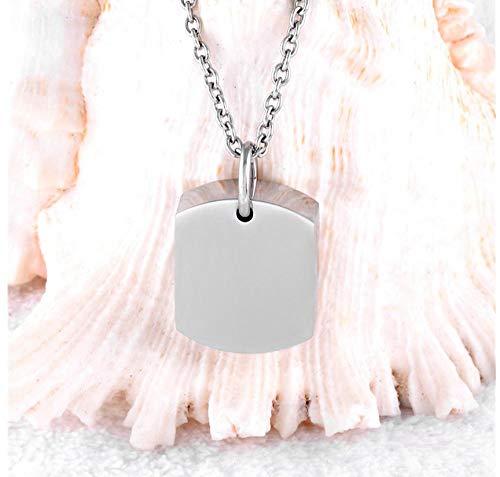 N / D Collar De Cremación Alto Pulido 21mm * 17mm pequeña Etiqueta de Perro en Blanco urna de cremación de Acero Inoxidable Cenizas joyería Colgante Collar/Venta al por Menor
