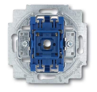 Busch Jäger Reflex SI alpinweiss Steckdosen Schalter Rahmen Wippen (2000/6 US Wippschalter-Einsatz Aus- und Wechselschaltung, 1 Stück)