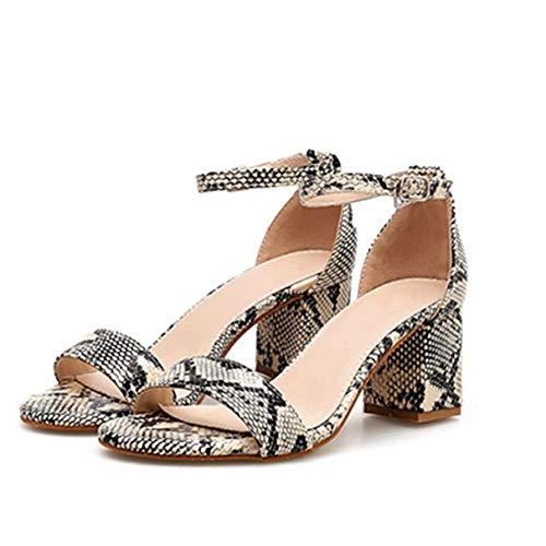 Frauen Sexy Sandalen Snake Print Damenmode High Heel Pumps Schuhe