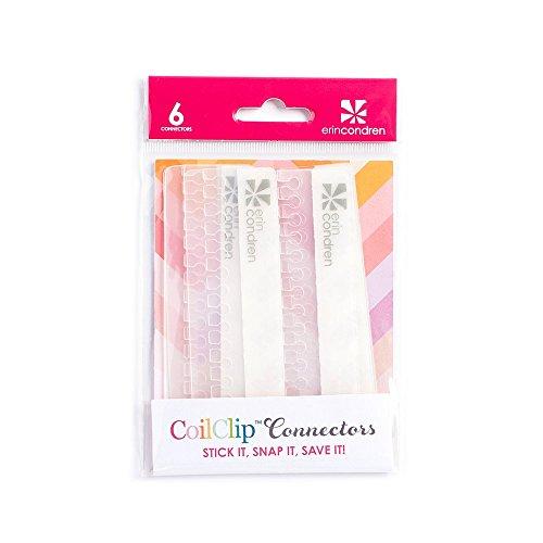 Erin Condren Designer Accessories - Planner Clear CoilClip Connectors (Set of 6) 4