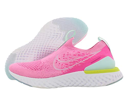 Nike Women's Epic Phantom React Flyknit Running Shoes (Psychic Pink/White, 8)