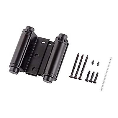 """Home Master Hardware 3"""" Double Action Spring Door Hinge Oil Rubbed Bronze with Screws for Saloon Western Bar Pub Swinging Cafe Doors 2-Pack"""