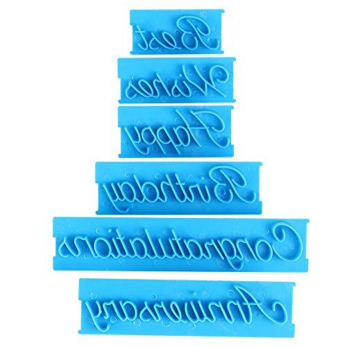 Grabosques de pastel esencial, 3 set con decoración de pastel de plástico (azul)