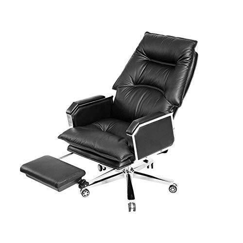 Silla de jefe sillas ejecutivas, cuero hogar de oficina sillas de escritorio reclinable silla ejecutiva asiento asiento asiento silla giro sillón 360 grados giratorio ajustable altura de asiento silla
