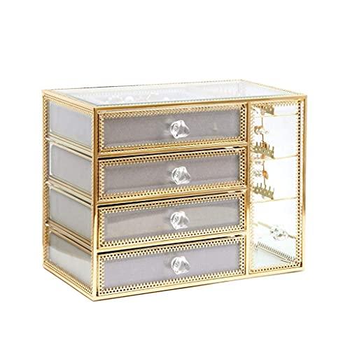 ROSG Caja de Almacenamiento de joyería de acrílico Transparente, Collar, Pendientes, Pendientes, Estante, Soporte de exhibición, Gran Capacidad para el hogar