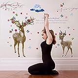 Wandsticker REH Hirsch Bambi Tiere Wandtattoo Wandbilder Aufkleber für Tier Fans Bambi