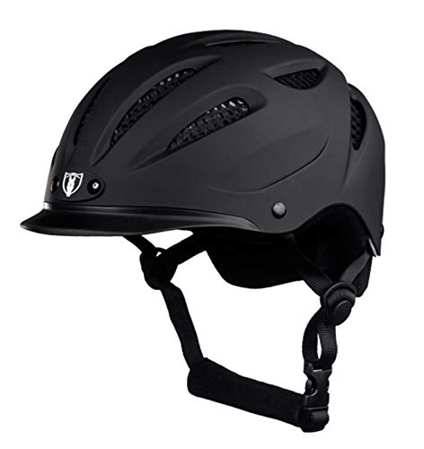 TIPPERARY EQUESTRIAN Horse Riding Helmet - Sportage - Lightweight Cooling Horseback Riding Apparel - Safety Helmet with Superior Ventilation and Air Flow - Matte Black - M