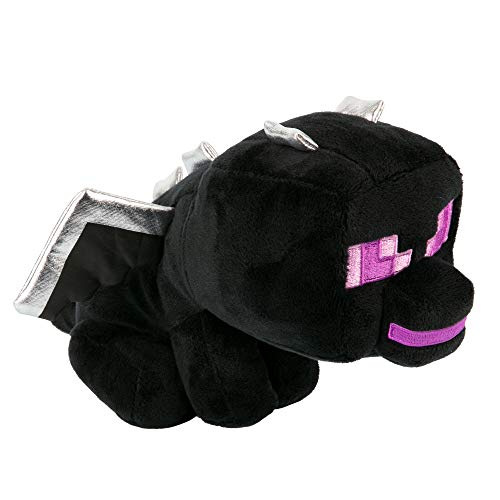 JINX Minecraft Happy Explorer Sitting Ender Dragon Plush Stuffed Toy, Black, 5.5' Tall