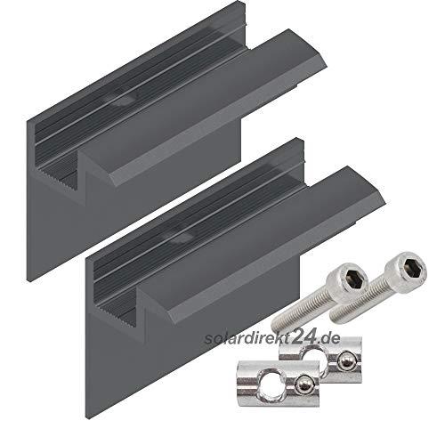 2er-Set Endklemme für 35 mm Module schwarz inkl. Schrauben Solar Photovoltaik PV