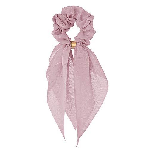 Bdrsjdsb Fille Femmes Arc Long Ruban Écharpe Cheveux Corde Queue De Cheval Titulaire Cravate Chouchous Bande Cheveux Chouchous Bandes Bean Pink