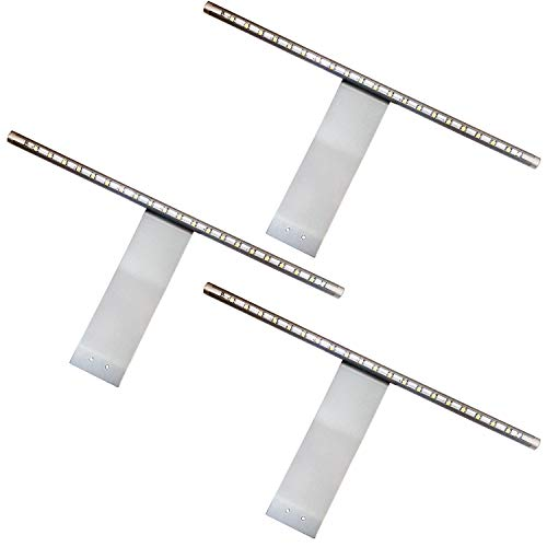 3 x överskåp LED-ljus & drivrutinsats – cool vit ljusstråle – aluminiumfinish – köksskåp nedljus– badrum sminkspegel spotlight – för garderob, lådor och enheter, läslampa