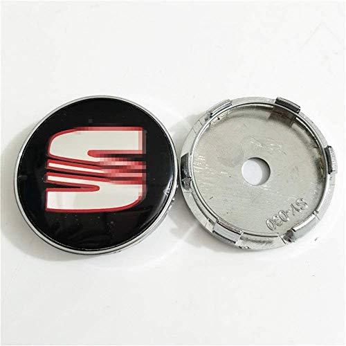 Tapas de Cubo de la Cubierta del Centro de la Rueda del Coche para Seat, Car Styling Accessori, 60MM, 4Pcs