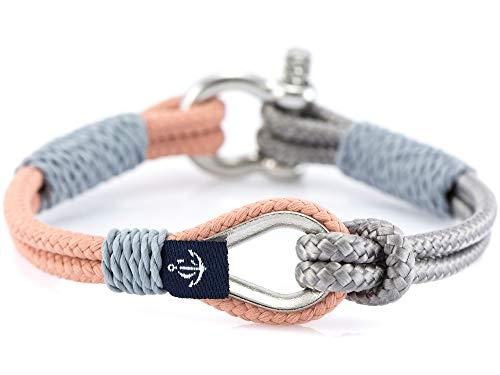 CONSTANTIN NAUTICS SAIL WITH US Maritimes Armband aus Segeltau, handgemacht, für Damen und Herren, mit Edelstahl Schäkel-Verschluss 3mm CNB #734 18 cm