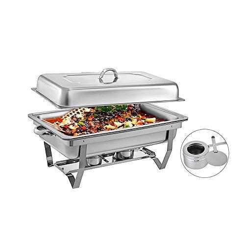 NBLYW 9 Quart RVS Chafer Chafing Schaal Buffet Set Met Water Pan, Brandstof Houder en Deksel, Voor Buffet/Bruiloft/Feesten/Catering Evenementen