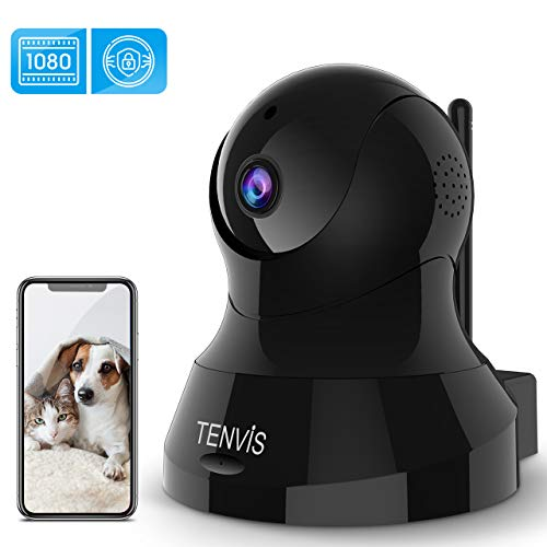 TENVIS Indoor Security Camera - 1080P HD Home Security Camera with 32 FT Night Vision, 2-Way Audio, Sensitive Motion Detection, PTZ, Real-Time Surveillance for Baby/Pet.