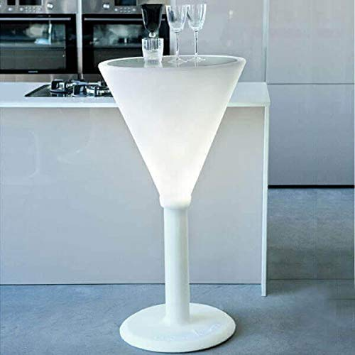 MATHI DESIGN Jet Set - Table Haute Lumineuse Blanc