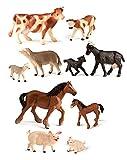 Miniland Animales Granja con bebés (10und) (27430)