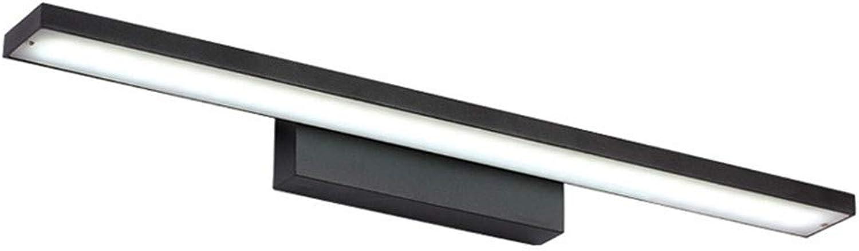 T-TWJQ LED-Spiegelscheinwerfer, wasserdicht und feuchtigkeitsfest, Badezimmer-Badezimmerspiegel aus Aluminium, schwarzweies Licht, 40 cm   8 Watt
