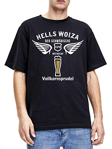 Hells Woiza Herren T-Shirt Motiv Flügel 2XL