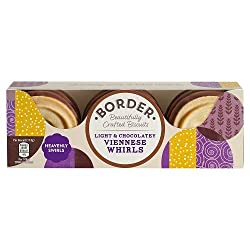 A golden buttery swirled biscuit sweet and creamy milk chocolate indulgent and expertly balanced biscuit
