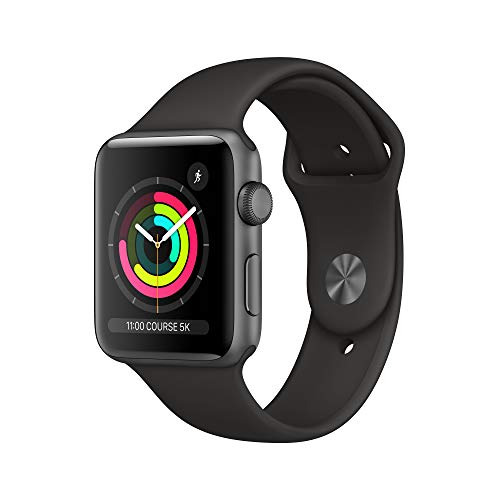 Apple Watch Series 3 (GPS, 42mm) Aluminiumgehäuse Space Grau - Sportarmband Schwarz