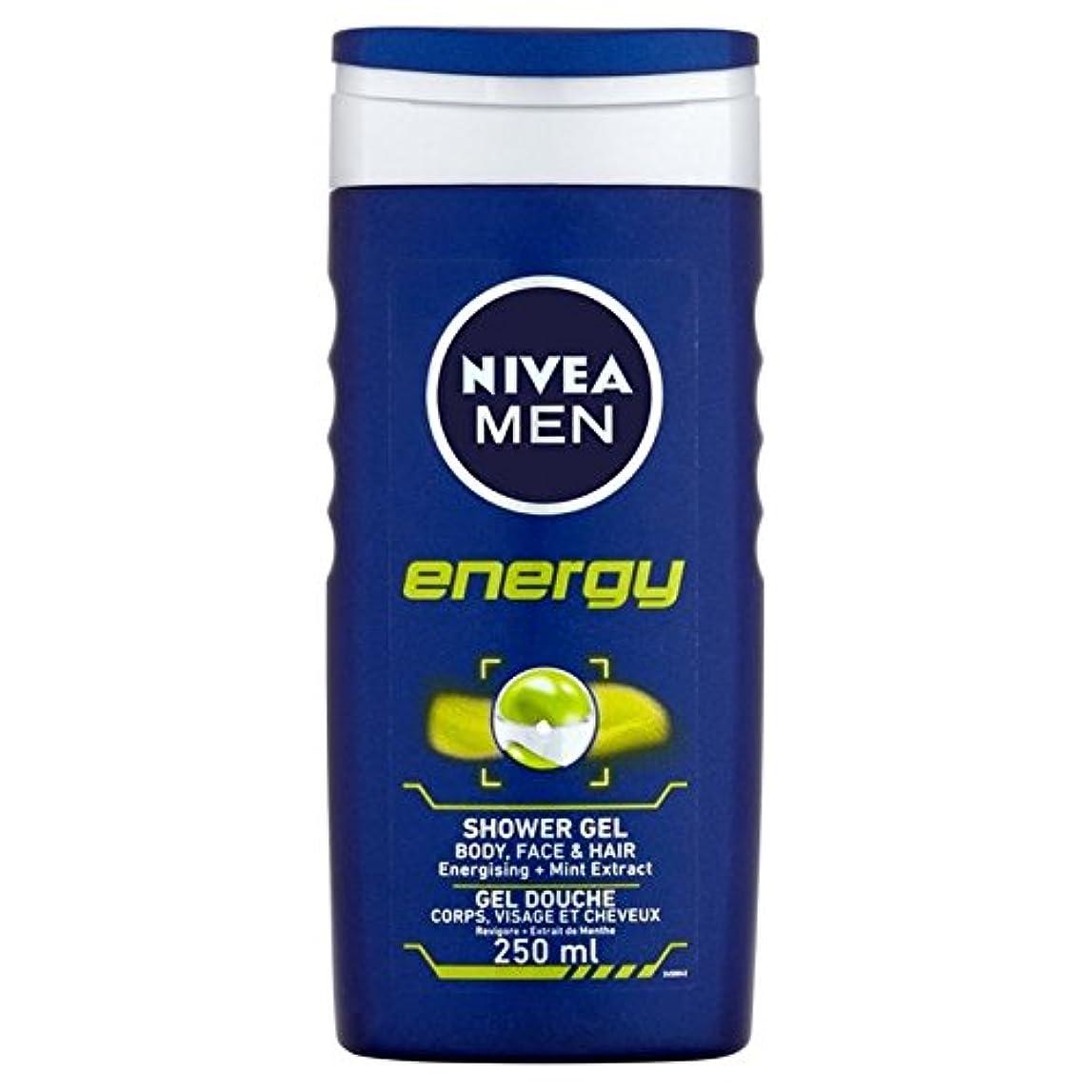 劇的吸収贅沢な1つのシャワー250ミリリットル中ニベアの男性のエネルギー2 x4 - Nivea Men Energy 2 in 1 Shower 250ml (Pack of 4) [並行輸入品]