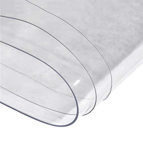 Bâche imperméable en PVC Transparent Épaisseur 0.5mm Bâche Drap Rideau de Pluie Balcon Jardin Toile en Plastique PE avec Oeillets, 600 g / ㎡, 19 Tailles