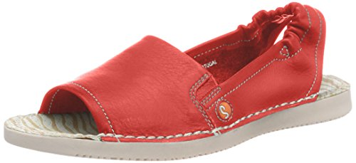 Softinos Damen TEE430SOF Slingback Sandalen, Rot (Red), 38 EU