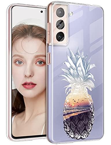 DIMIYER Carcasa para Samsung Galaxy S21 FE, de silicona transparente, ultrafina, flexible, de TPU, antigolpes, antiarañazos, absorción de golpes, diseño de animales