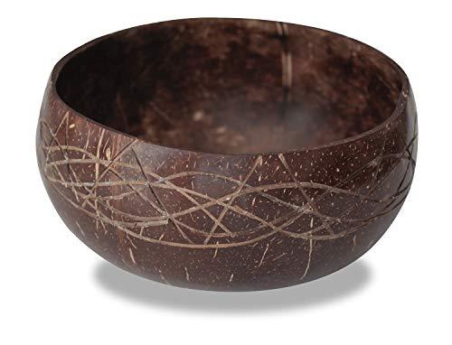 CORIMBA® - Jumbo Coconut Bowl | Echte Kokosnuss-Schale | 100{1f542e84f3b7556805dd3c5cea3ccdf255d59a8183356306605d3dd67821c425} natürlich, handgefertigt & plastikfrei
