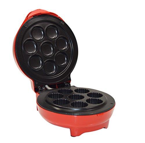 Jocca 5518 Máquina de Hacer Cupcakes, Color Rojo, 1200 W, Aluminio