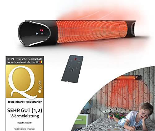 Mediashop Livington Instant Heater – Infrarotheizung für schnelle Wärme ohne Energieverlust – Heizstrahler mit Timer & Fernbedienung – auch als Terrassenheizstrahler im Außenbereich
