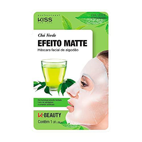 Kiss NY Professional Máscara Facial de Algodão- Chá Verde, Kiss New York Professional