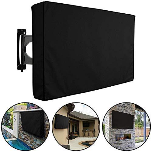 """F-cover Outdoor-TV-Staubschutz, 38-55 Zoll-Flachbildschirm-TV Universal Heavy Duty Oxford Cloth Dicken Wasserdicht (Color : Schwarz, Size : 40\""""-43\"""")"""