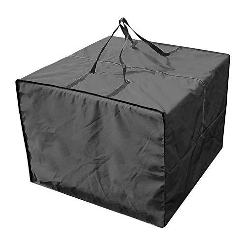 Opaltool Funda Protectora Muebles Jardín Impermeable Cuadrado Cubierta de Muebles de Oxford Bolsa de Almacenamiento de Muebles para Cojines de Sofá (Negro)