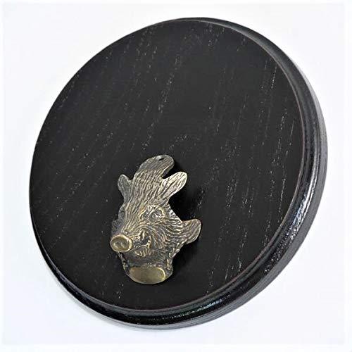 GTK - Geweihe & Trophäen KRUMHOLZ Buddel-Bini - Placa cuña para Armas (15 cm, con Cabeza de cuña, pequeña), diseño de Trofeo