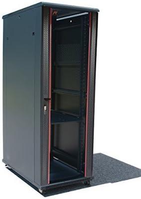 Server Rack - Locking Cabinet - Network Rack - Av Cabinet - 32U - Rack Mount - Free Standing Network Rack- Server Cabinet - Caster Leveler - Rack Shelf - Cooling Fan - Thermostat - PDU Sysracks