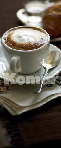 Fototapete Cafe, Cappuccino als Türtapete, Bildtapete Kaffeetasse, 92x220cm, 2-teilig, gestochen scharfe XXL-Ansichten verfügbar.