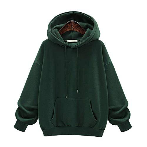 HOSD Capucha Lana suéter y Suelta con de de Abrigo para Talla Grande de Mujer