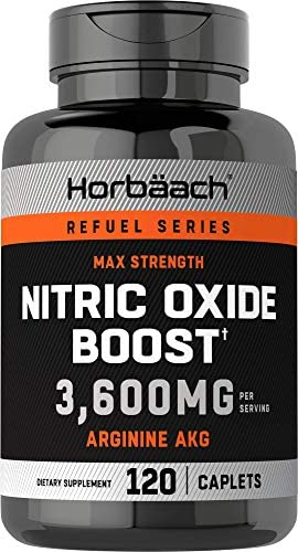 Nitric Oxide Booster 3600mg 120 Caplets Nitric Oxide Pills with Arginine AKG for Men and Women product image