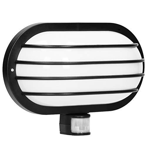 ORNO Solano E27 Außenlampe mit Bewegungsmelder Bis zu 60W IP44 Wasserdicht (Glühbirne separat gekauft) (Schwarz)